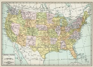 1930 map of United States