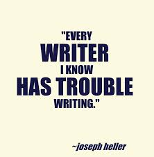 the trouble with writing