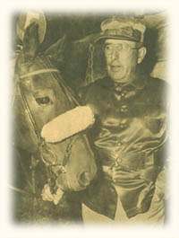 Hall of Fame driver-trainer Frank Ervin with 1949 and 1952 Harness Horse of thr Year Good Time.