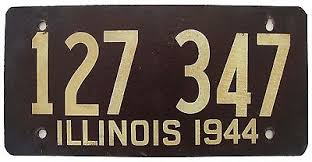 1944 license plate