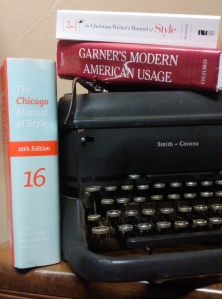 vintage 1940s typewriter smith and corona chicago manual of style garners modern american usage christian writers manual of style fourth edition Tisha Martin author editor