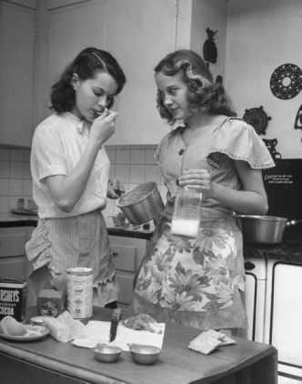 1940s teenage friends girls cooking baking wartime WWII tisha martin author editor