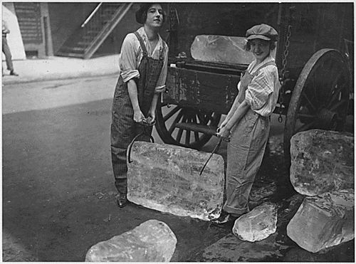 wartime workers girls delivering ice 1940s WWII tisha martin author editor