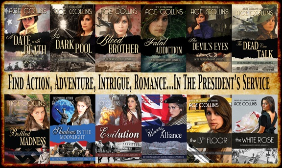 In the presidents service ace collins tisha martin author editor historical fiction world war two