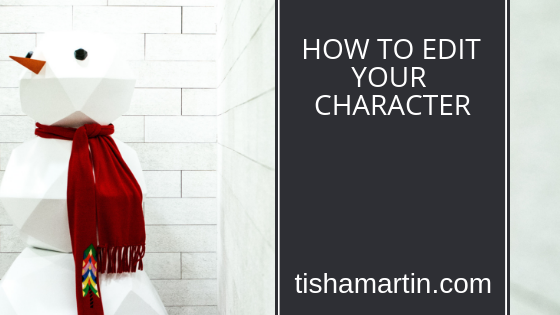 how to edit your character