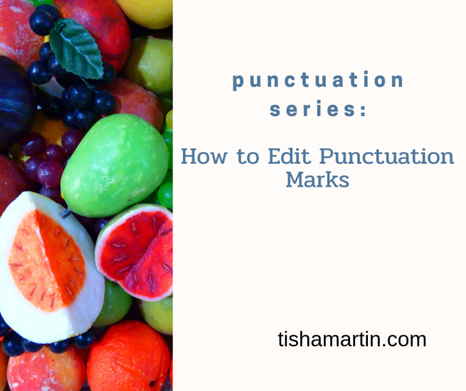 How to edit punctuation marks